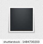 photo frame. square polaroid... | Shutterstock .eps vector #1484730203