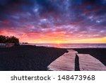 Jardin Beach At Sunset  Puerto...