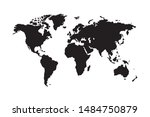 world map vector  isolated on... | Shutterstock .eps vector #1484750879
