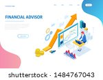 isometric web business concept...   Shutterstock .eps vector #1484767043