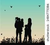 isolated  silhouette family... | Shutterstock .eps vector #1484775386