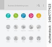 business   marketing related... | Shutterstock .eps vector #1484777423