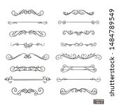 vector elements. a set of curls ... | Shutterstock .eps vector #1484789549