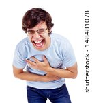 young latin man in glasses... | Shutterstock . vector #148481078
