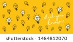 slogan quote did you know think ... | Shutterstock .eps vector #1484812070