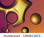 beautiful abstract background... | Shutterstock . vector #1484812823