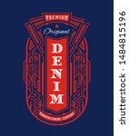 art deco badge logo vintage... | Shutterstock .eps vector #1484815196