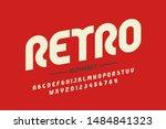 retro style font design ... | Shutterstock .eps vector #1484841323