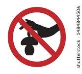 vector silhouette no tear the... | Shutterstock .eps vector #1484844506