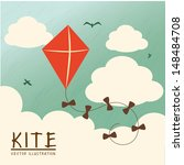 kite design over sky background ... | Shutterstock .eps vector #148484708