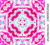 colorful kaleidoscopic pattern... | Shutterstock . vector #1484853566