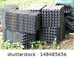 plastic eggs box | Shutterstock . vector #148485656