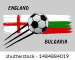 flags of england and bulgaria   ... | Shutterstock .eps vector #1484884019