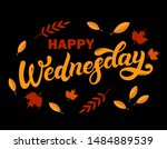 happy wednesday. day of the... | Shutterstock . vector #1484889539