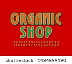 vector stylish sign organic... | Shutterstock .eps vector #1484899190