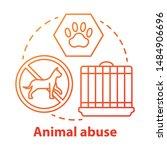 Animal Abuse And Harm Concept...