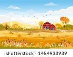 landscapes of countryside in...   Shutterstock .eps vector #1484933939