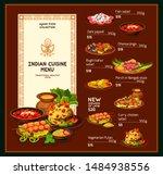 Indian Cuisine Menu ...