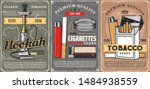 cigars  cigarettes and premium... | Shutterstock .eps vector #1484938559