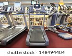 interior of a fitness hall with ... | Shutterstock . vector #148494404