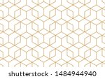 the geometric pattern with... | Shutterstock .eps vector #1484944940