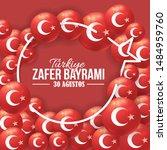 turkey national celebration... | Shutterstock .eps vector #1484959760