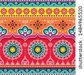 pakistani or indian truck art... | Shutterstock .eps vector #1484965520