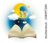 illustration of an open book... | Shutterstock . vector #148497284