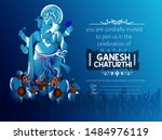 illustration of lord ganpati on ... | Shutterstock .eps vector #1484976119