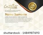 certificate template with... | Shutterstock .eps vector #1484987693