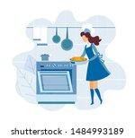 Faceless Woman Cartoon Chef...