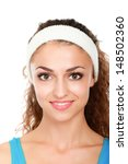 young smiling fitness girl ... | Shutterstock . vector #148502360