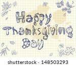 happy thanksgiving day... | Shutterstock .eps vector #148503293