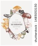 Mushrooms Trendy Design. Autum...