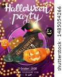halloween party  beautiful... | Shutterstock .eps vector #1485054266
