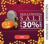halloween sale  up to 30  off ...   Shutterstock .eps vector #1485054296