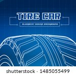 car tire with tire marks on a... | Shutterstock .eps vector #1485055499