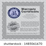 grey warranty. customizable ... | Shutterstock .eps vector #1485061670