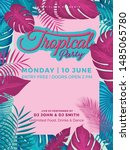 tropical summer party... | Shutterstock .eps vector #1485065780