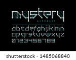 science fiction style font... | Shutterstock .eps vector #1485068840