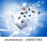 background image with laptop... | Shutterstock . vector #148507343