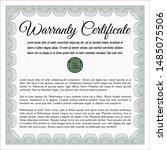green formal warranty... | Shutterstock .eps vector #1485075506