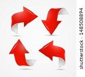 red vector arrows on grey...   Shutterstock .eps vector #148508894