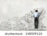 back view of businessman... | Shutterstock . vector #148509110