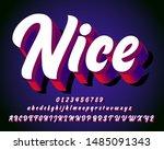 realistic 3d brush font for... | Shutterstock .eps vector #1485091343