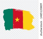 flag republic of cameroon from... | Shutterstock .eps vector #1485120809