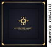 artistic and luxury logo. can... | Shutterstock .eps vector #1485135863