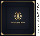 artistic and luxury logo. can... | Shutterstock .eps vector #1485135866