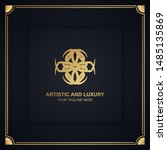 artistic and luxury logo. can... | Shutterstock .eps vector #1485135869