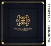 artistic and luxury logo. can... | Shutterstock .eps vector #1485135896